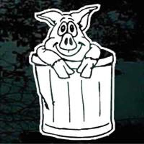 Pig In Garbage Can Cartoon