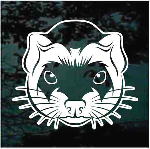 Ferret Face Window Decals