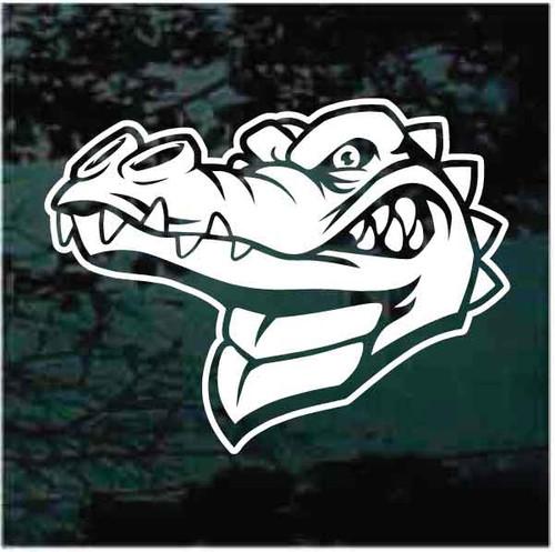 Mean Alligator Head Window Decals