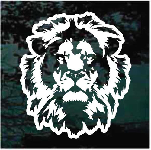 Lion Face Window Decals