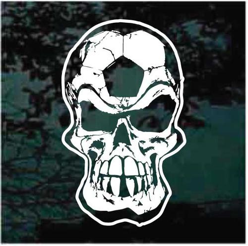 Soccer Ball Player Skull Decals