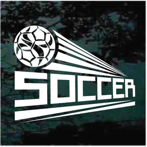 Angled Soccer Ball Design Decal