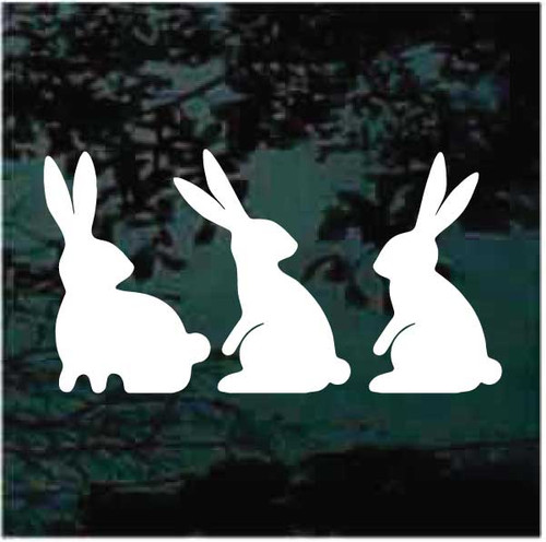 3 Little Bunnies Window Decals