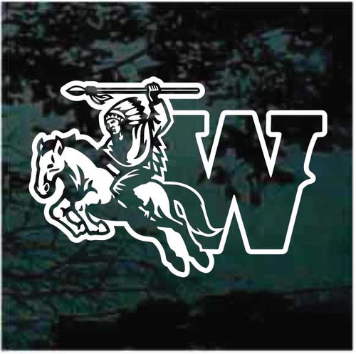 Indian Warrior Mascot Decal
