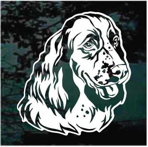 Pretty English Springer Spaniel Head Decals