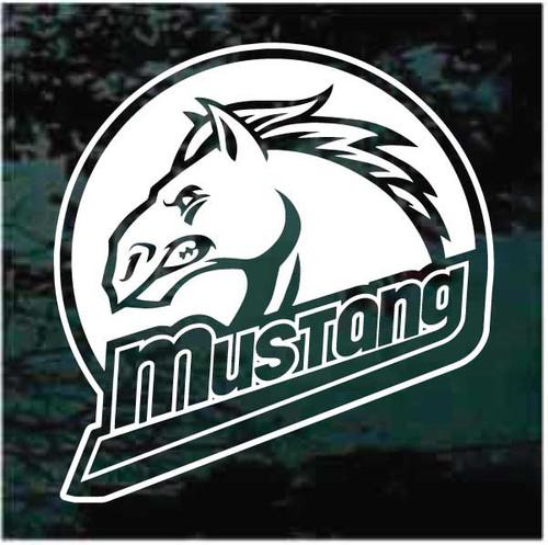 Mustangs Mascot Logo Decals