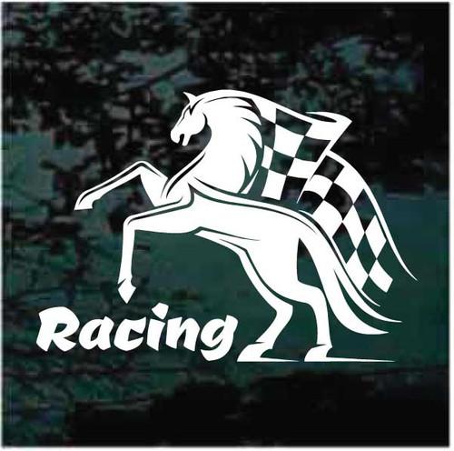 Race Flag Horse Racing Logo Decals