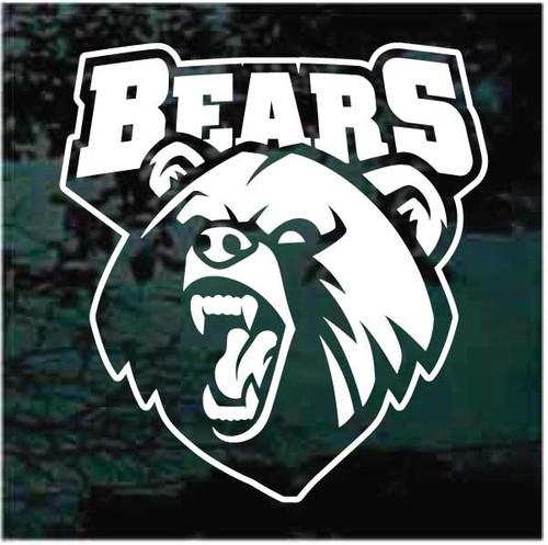 Bears Mascot Logo Decals