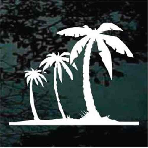 Three Beach Palm Trees