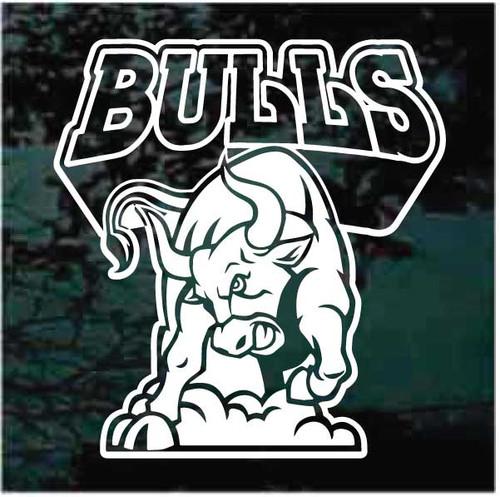 Bulls Mascot Logo Window Decals