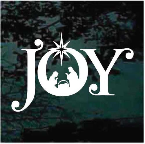 Joy Nativity Scene Decals