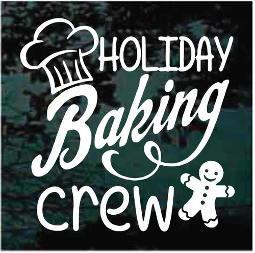 Holiday Baking Crew Decals
