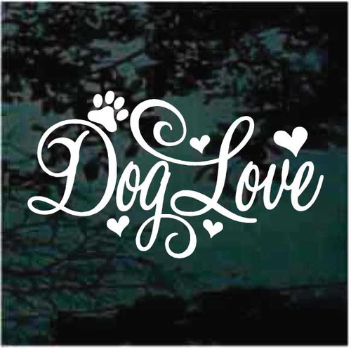 Dog Love Decals