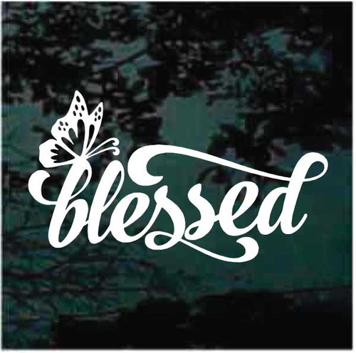 Butterfly Blessed Christian Window Decals