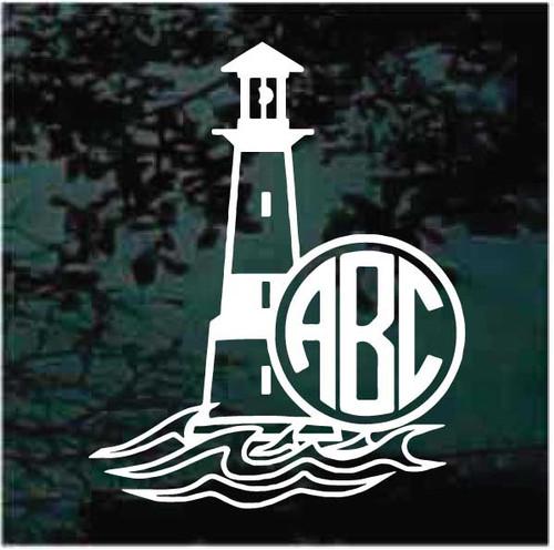 Lighthouse Monogram Decals