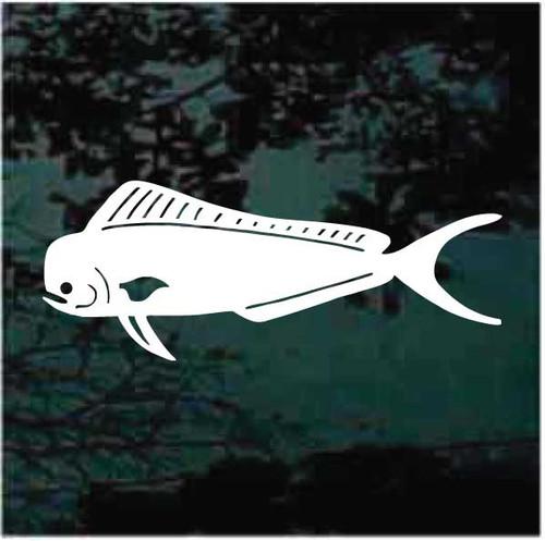 Classic Mahi Mahi Fish Window Decals