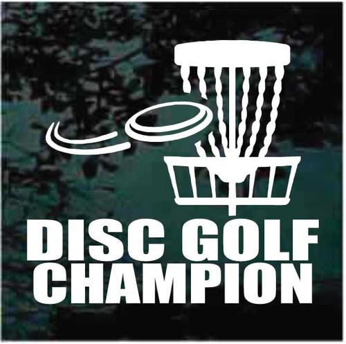 Disc Golf Champion Decals