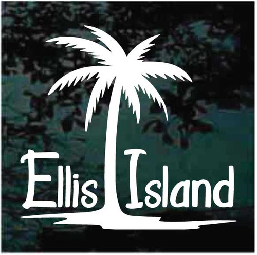 Ellis Island Palm Tree Decals