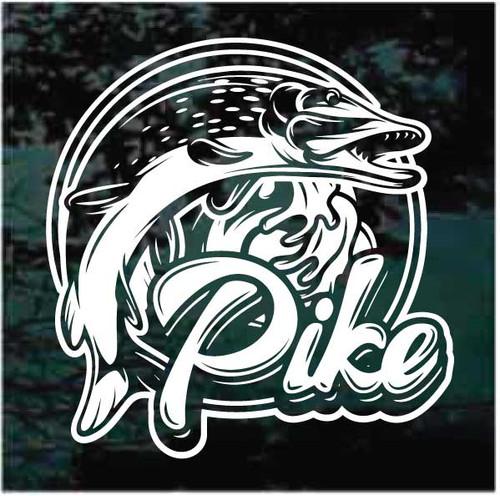Northern Pike Fish Logo Decals