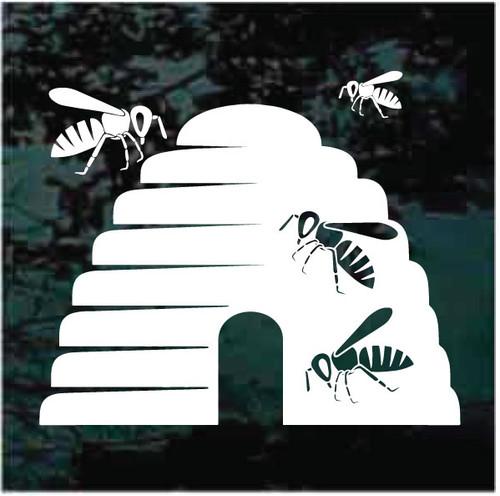Beehive & Bees Decals