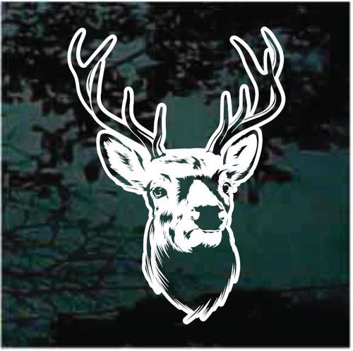 Beautiful Buck Deer Head Decals