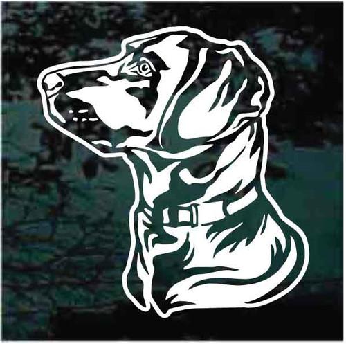 Labrador Retriever Head Profile Decals