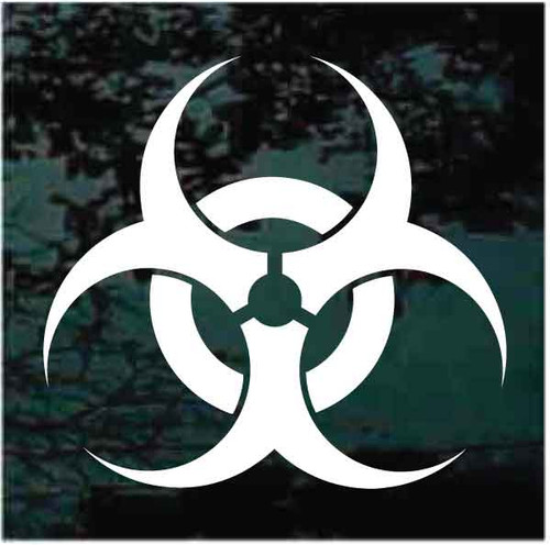 Biohazard Symbol Sign Decals