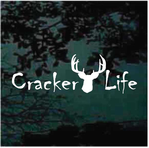 Deer Head Cracker Life Window Decals