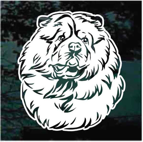 Beautiful Chow Head Decals
