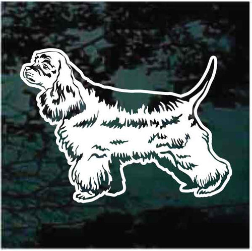 Cocker Spaniel Profile Window Decals