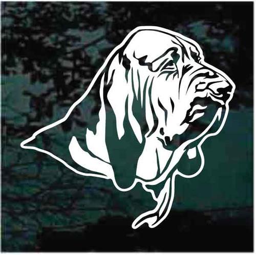 Decorative Bloodhound Portrait Window Decals
