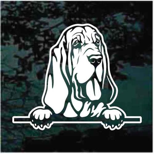 Bloodhound Peeking Window Decals