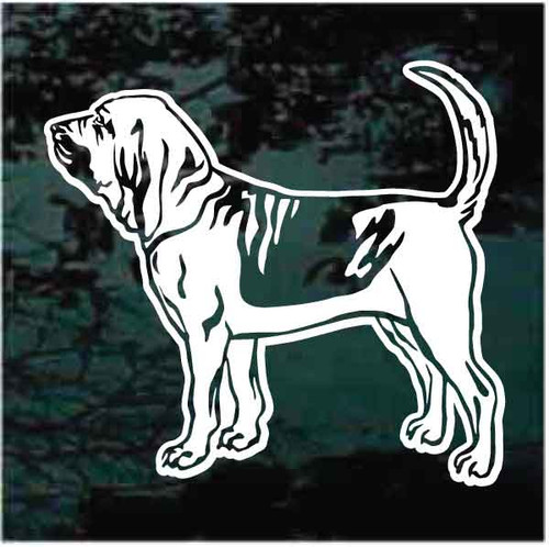 Bloodhound Profile Portrait Window Decals