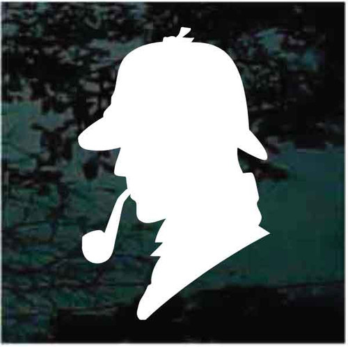 Detective Head Silhouette Decals
