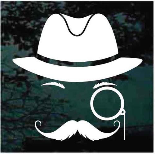 Mustache Detective Decals