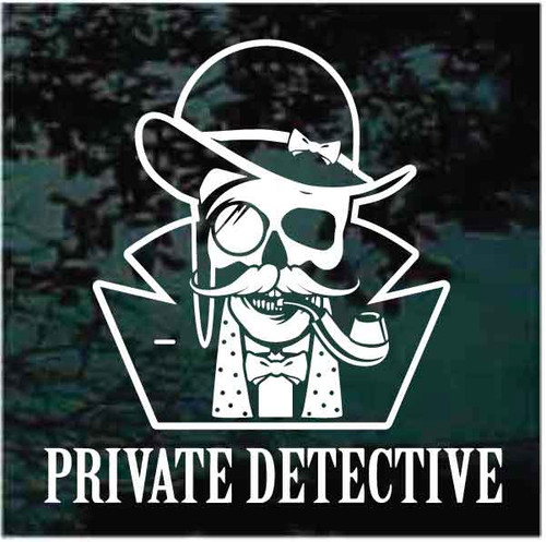 Private Detective In Disguise Decals