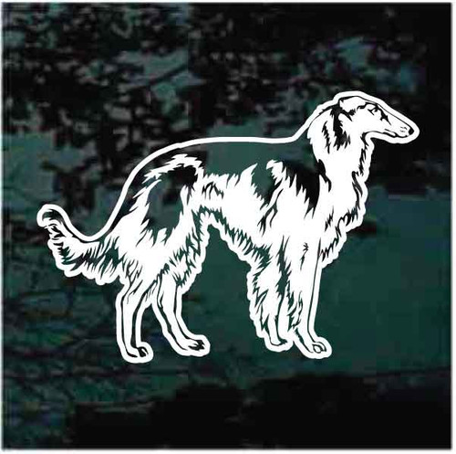 Russian Wolfhound Profile Window Decals