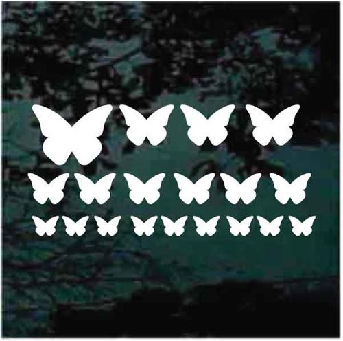 Pink Butterflies Custom Decals