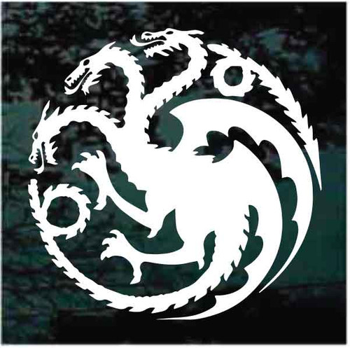 3 Headed Dragon Window Decals