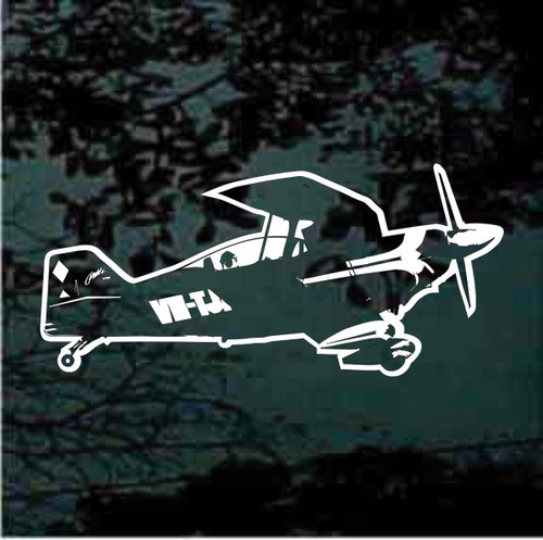 Pitts S2C Racer Outline Aircraft Window Decals