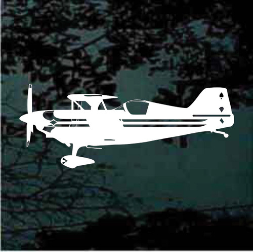 Pitts Racer Side View Aircraft Window Decals