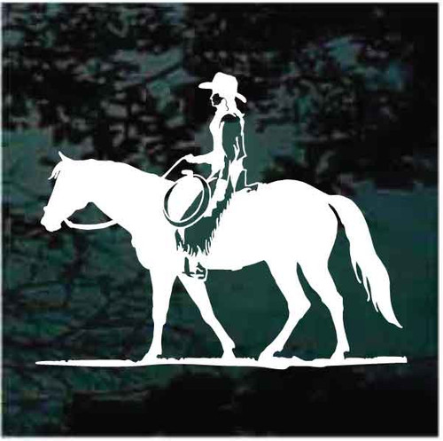 Cowgirl Horseback Riding Decals