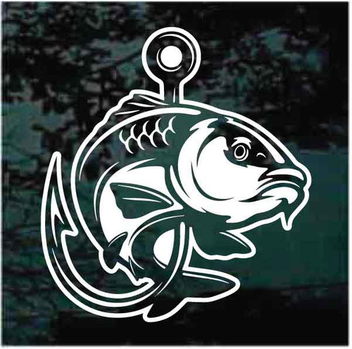 Carp Fishing Fish Hook Decals