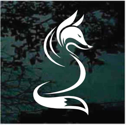 Emblem of a Fox Window Decals