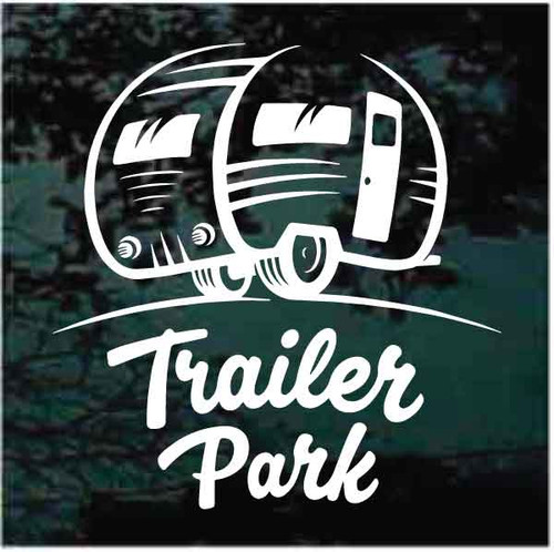 Vintage Camper Trailer Park Sign Decals
