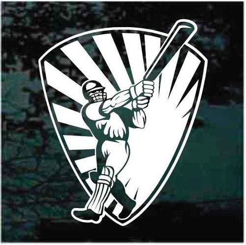 Cricket Player Shield Decals