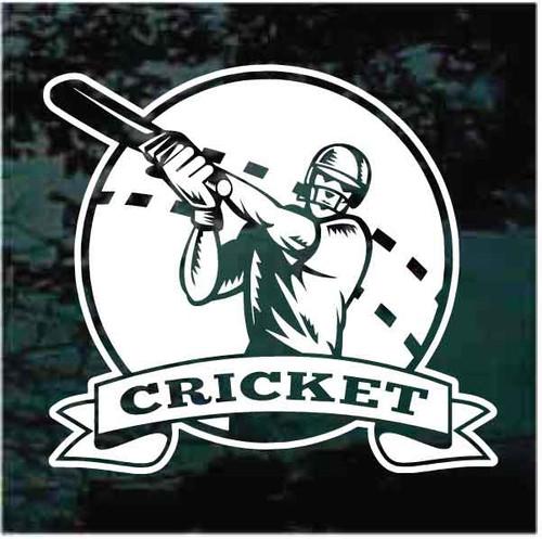 Cricket Batsman Logo Decals