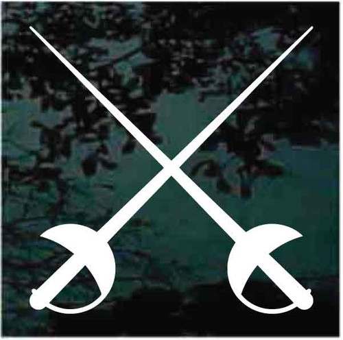 Fencing Swords Crossed Decals
