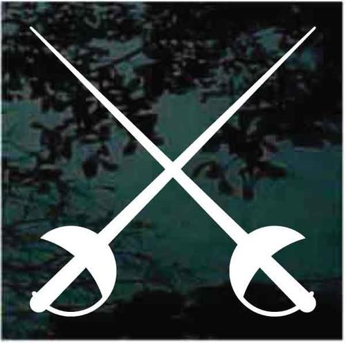 Fencing Swords Crossed Decals