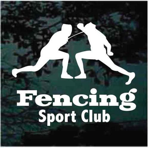 Fencing Sport Club Decals